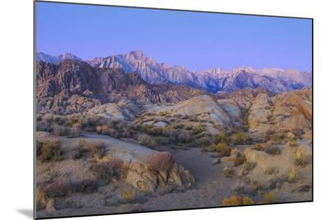 California, Alabama Hills. Sunrise on Lone Pine Peak and Mt Whitney-Don Paulson-Mounted Photographic Print