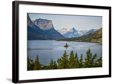 Montana, Glacier NP, Wild Goose Island Seen from Going-To-The-Sun Road-Rona Schwarz-Framed Art Print
