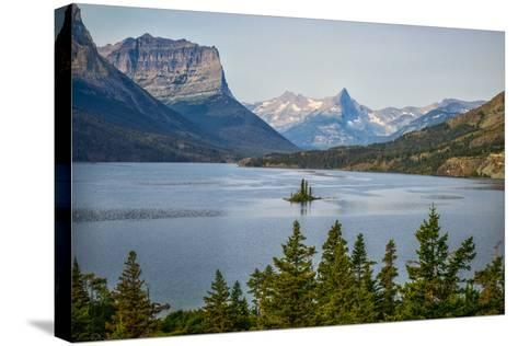Montana, Glacier NP, Wild Goose Island Seen from Going-To-The-Sun Road-Rona Schwarz-Stretched Canvas Print
