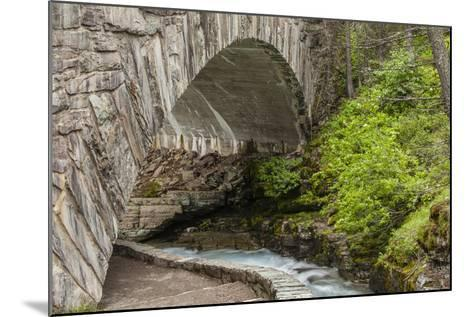 Ccc Bridge over Barring Creek, Sun Rift Gorge Pullout, Glacier NP-Michael Qualls-Mounted Photographic Print