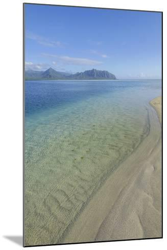 Sandbar, Kaneohe Bay, Oahu, Hawaii-Douglas Peebles-Mounted Photographic Print