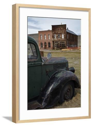 Vintage Truck, Bodie Ghost Town, Bodie Hills, Mono County, California-David Wall-Framed Art Print