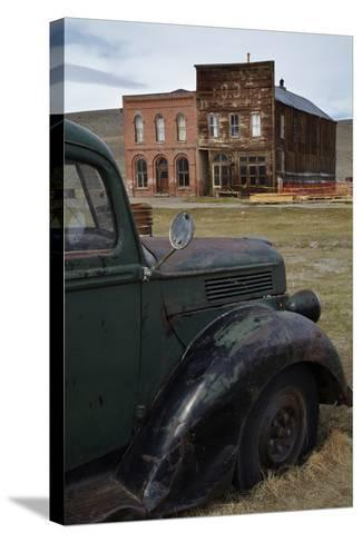 Vintage Truck, Bodie Ghost Town, Bodie Hills, Mono County, California-David Wall-Stretched Canvas Print