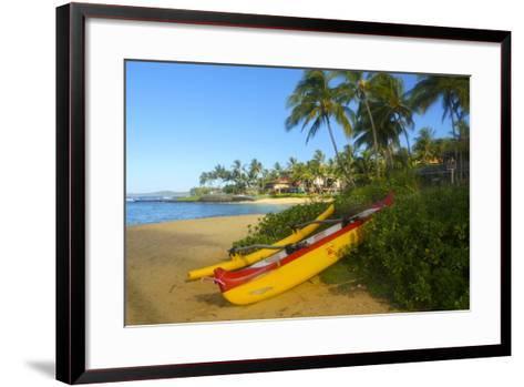 Waiohai Beach, Poipu, Kauai, Hawaii-Douglas Peebles-Framed Art Print