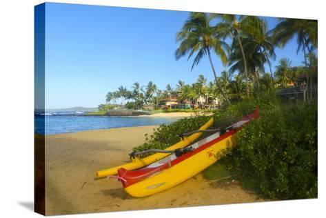 Waiohai Beach, Poipu, Kauai, Hawaii-Douglas Peebles-Stretched Canvas Print