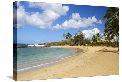 Salt Pond Beach, Park, Hanapepe, Kauai, Hawaii-Douglas Peebles-Stretched Canvas Print