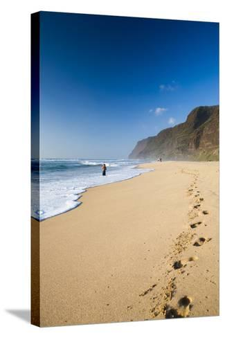 The Long Stretches of Beach, Polihale State Beach Park, Kauai, Hawaii-Micah Wright-Stretched Canvas Print