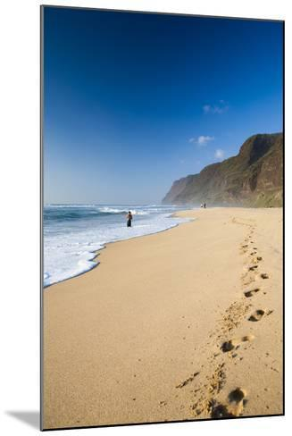 The Long Stretches of Beach, Polihale State Beach Park, Kauai, Hawaii-Micah Wright-Mounted Photographic Print