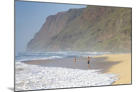 Fishermen Enjoy the Beach, Polihale State Beach Park, Kauai, Hawaii-Micah Wright-Mounted Photographic Print