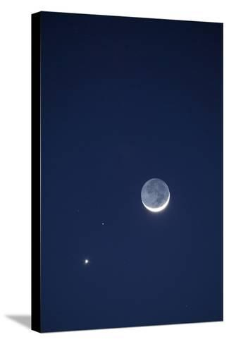 USA, California. Moon, Venus and Pluto in the Night Sky-Dennis Flaherty-Stretched Canvas Print