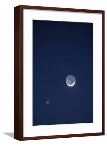 USA, California. Moon, Venus and Pluto in the Night Sky-Dennis Flaherty-Framed Art Print