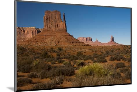 West Mitten, Monument Valley Navajo Tribal Park, Arizona-Michel Hersen-Mounted Photographic Print