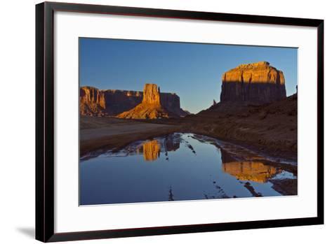 Sunset, Reflections, Buttes, Monument Valley, Arizona-Michel Hersen-Framed Art Print