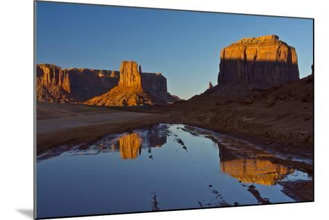 Sunset, Reflections, Buttes, Monument Valley, Arizona-Michel Hersen-Mounted Photographic Print