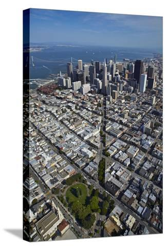 USA, California, Aerial of Downtown San Francisco Cityscape-David Wall-Stretched Canvas Print
