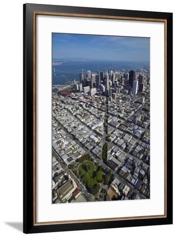 USA, California, Aerial of Downtown San Francisco Cityscape-David Wall-Framed Art Print
