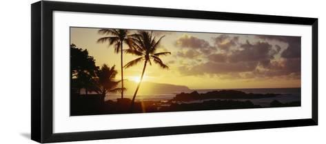 Hawaii Islands, Oahu, Sunset in Island-Douglas Peebles-Framed Art Print