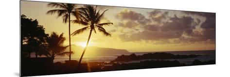 Hawaii Islands, Oahu, Sunset in Island-Douglas Peebles-Mounted Photographic Print