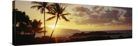 Hawaii Islands, Oahu, Sunset in Island-Douglas Peebles-Stretched Canvas Print
