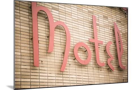 Close Up of a Motel Sign, Pontiac, Illinois, USA. Route 66-Julien McRoberts-Mounted Photographic Print
