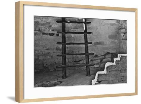 USA, Colorado, Mesa Verde, Long Ladder-John Ford-Framed Art Print
