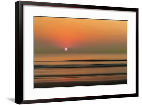 Sunset over Rippled Water-Sheila Haddad-Framed Art Print