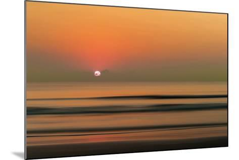 Sunset over Rippled Water-Sheila Haddad-Mounted Photographic Print
