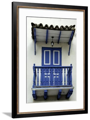 Charming Spanish Colonial Architecture, Old City, Cartagena, Colombia-Jerry Ginsberg-Framed Art Print
