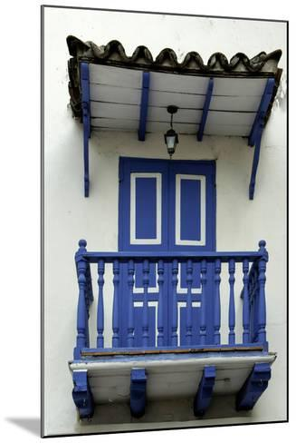 Charming Spanish Colonial Architecture, Old City, Cartagena, Colombia-Jerry Ginsberg-Mounted Photographic Print