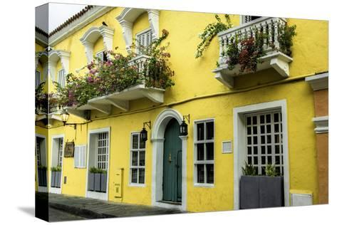Architecture in the San Diego Part of Old City, Cartagena, Colombia-Jerry Ginsberg-Stretched Canvas Print