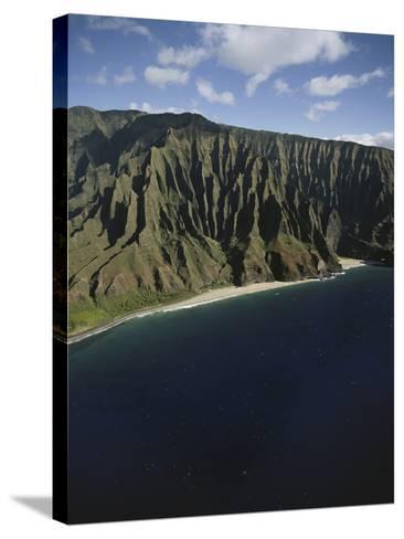 Hawaii Islands, Kauai, Na Pali Coast, View of Kalalau Valley-Douglas Peebles-Stretched Canvas Print