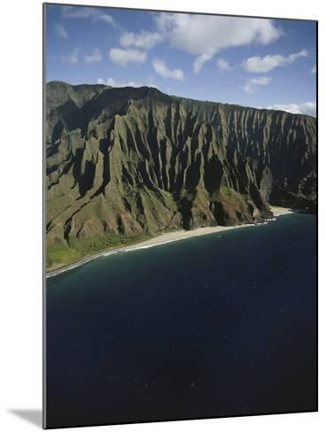 Hawaii Islands, Kauai, Na Pali Coast, View of Kalalau Valley-Douglas Peebles-Mounted Photographic Print