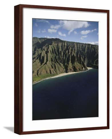 Hawaii Islands, Kauai, Na Pali Coast, View of Kalalau Valley-Douglas Peebles-Framed Art Print