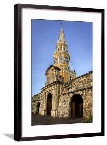 Clock Tower, Plaza de La Paz, Old City, Cartagena, Colombia-Jerry Ginsberg-Framed Art Print