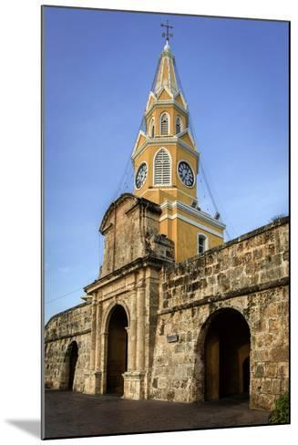 Clock Tower, Plaza de La Paz, Old City, Cartagena, Colombia-Jerry Ginsberg-Mounted Photographic Print