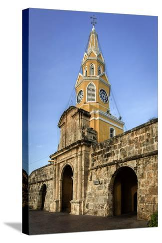 Clock Tower, Plaza de La Paz, Old City, Cartagena, Colombia-Jerry Ginsberg-Stretched Canvas Print