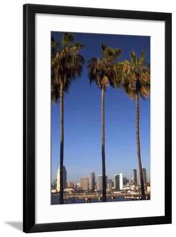 USA, California, San Diego. San Diego Skyline and Palm Trees-Kymri Wilt-Framed Art Print