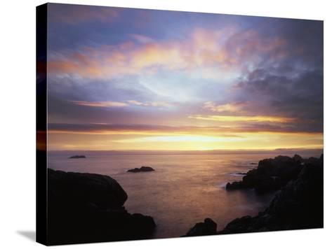 USA, California, San Diego, Sunset over Rocks on the Pacific Ocean-Christopher Talbot Frank-Stretched Canvas Print