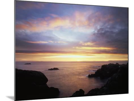 USA, California, San Diego, Sunset over Rocks on the Pacific Ocean-Christopher Talbot Frank-Mounted Photographic Print