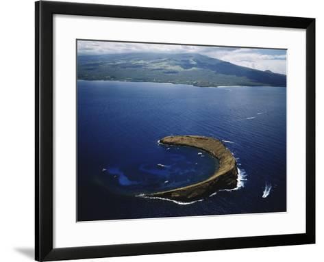 Hawaii Islands, Maui, Wailea-Kihei, View of Molokini Island-Douglas Peebles-Framed Art Print