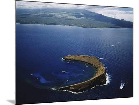 Hawaii Islands, Maui, Wailea-Kihei, View of Molokini Island-Douglas Peebles-Mounted Photographic Print