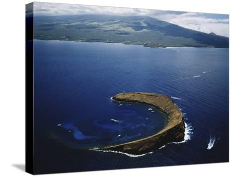 Hawaii Islands, Maui, Wailea-Kihei, View of Molokini Island-Douglas Peebles-Stretched Canvas Print