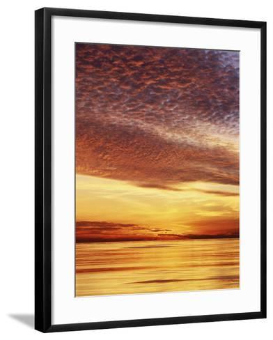 USA, California, San Diego, Sunset over the Pacific Ocean-Christopher Talbot Frank-Framed Art Print