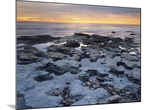 California, San Diego, Sunset over Tide Pools on the Pacific Ocean-Christopher Talbot Frank-Mounted Photographic Print