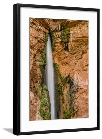 Waterfall. Tributary to Colorado River. Grand Canyon. Arizona. USA-Tom Norring-Framed Art Print