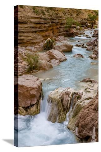 Havasu Creek. Mineral Colored Water. Grand Canyon. Arizona. USA-Tom Norring-Stretched Canvas Print