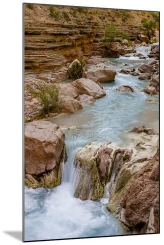 Havasu Creek. Mineral Colored Water. Grand Canyon. Arizona. USA-Tom Norring-Mounted Photographic Print