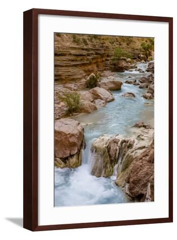 Havasu Creek. Mineral Colored Water. Grand Canyon. Arizona. USA-Tom Norring-Framed Art Print