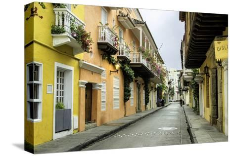 Architecture in the San Diego Section, Cartagena, Colombia-Jerry Ginsberg-Stretched Canvas Print