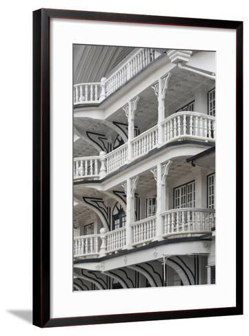Colonial House at Lim a Postraat, Paramaribo, Suriname-Keren Su-Framed Art Print